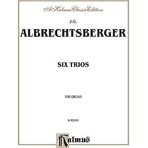 Albrechtsberger 6 Organ Trios O