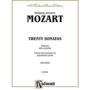 Mozart 20 Sonatas (Bartok) P/S