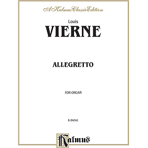 Vierne Allegetto For Organ O