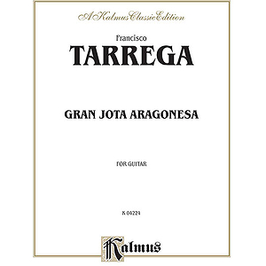 Tarrega Gran Jota Aragonesa For Guitar