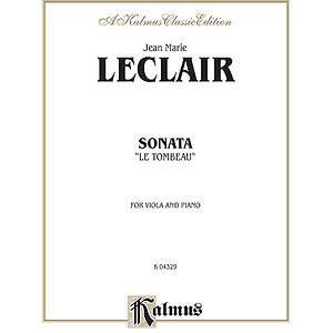 Leclair Sonata Le Tombeau V