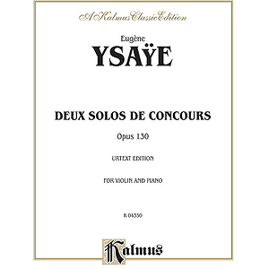 Ysaye Deux Solos De Concours