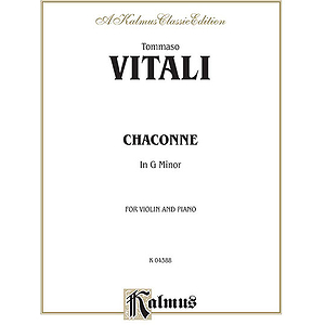 Vitali Chaconne In G Minor V