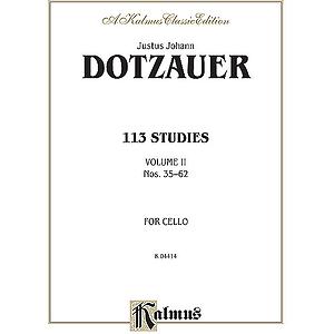 Dotzauer 113 Studies Bk. 2 Cl