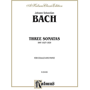 Three Sonatas For Viola Da Gamba Bwv 1027-29
