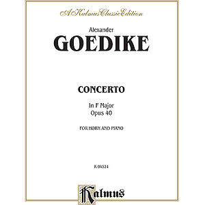 Goedicke Concert Horn & Orch. H