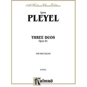 Pleyel 3 Duos Op. 61