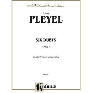 Pleyel Duets Op.8 2vln&piano