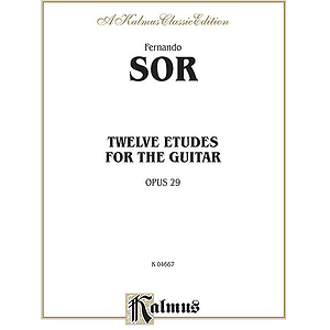 Sor Twelve Etudes For Guitar Opus 29
