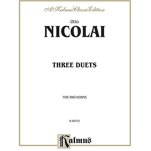 Nicolai 3 Duets For 2 Horns