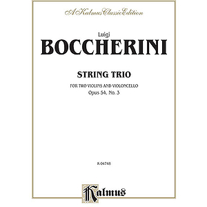 Boccherini String Trio Op54 No3