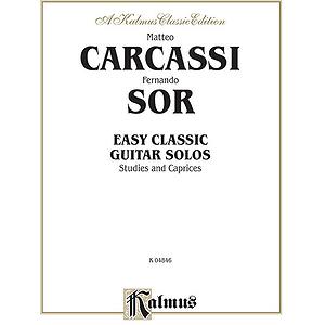 Carcassi-Sor Easy Classic Guitar Solos
