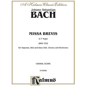 Bach Missa Brevis F Major V