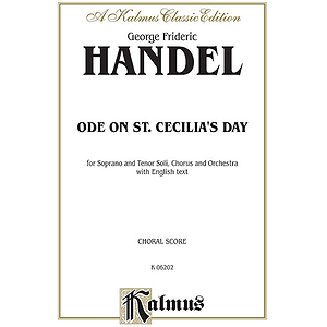 Handel Ode To St. Cecilia Vs