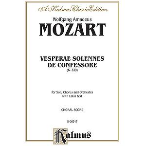 Mozart Vesperae Soll. K339