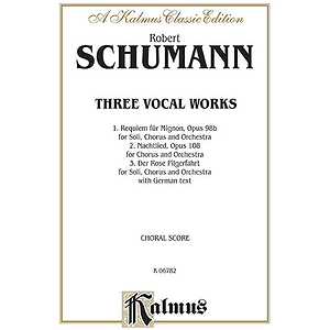 Schumann 3 Vocal Wks Op98b/108/1
