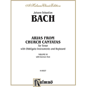Bach Tenor Arias Vol. 3