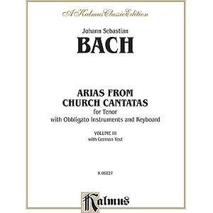 Bach Tenor Arias Vol. 3