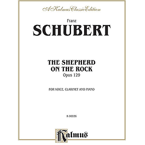 Schubert Shepherd On The Rock