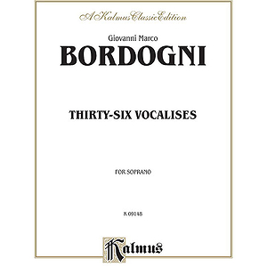 Bordogni 36 Vocalises Soprano
