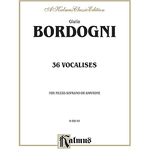 Bordogni 36 Vocalises Mezzo/Bar