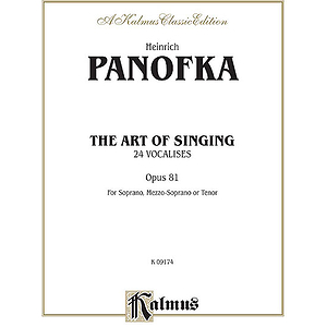 Panofka Art Of Singing Op 81 So