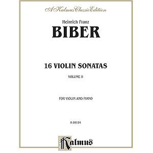 Biber 16 Sonatas Vln. & Piano