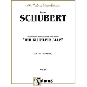 Introduction And Variations On A Theme 'Lhr Blümlein Alle,' Op. 160