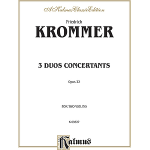 Krommer 3 Duos Conc.op.22 2vln