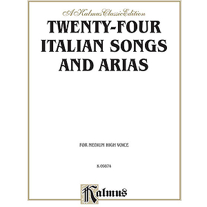 24 Italian Songs & Arias Mh