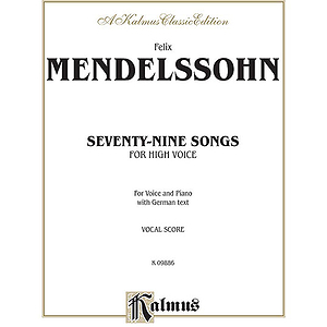 Mendelssohn 79 Songs High Voc So