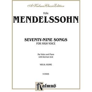 Mendelssohn 79 Songs High Voc So