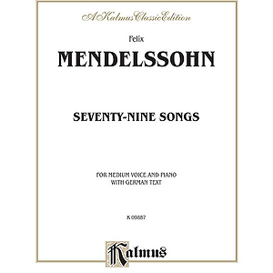 Mendelssohn 79 Songs Med Voc Sol
