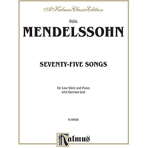 Mendelssohn 79 Songs Low Voc Sol