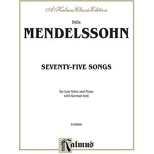 Mendelssohn 79 Songs Low Voc Sol
