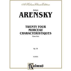 Arensky 24 Morceau Charact.