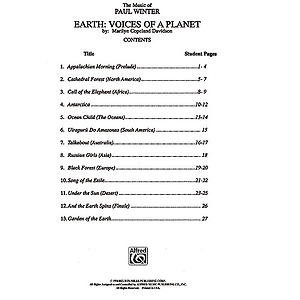Earth: Voices Of The Planet Student Book  The Music Of Paul Winter