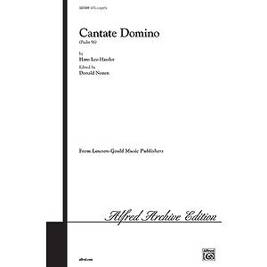Cantate Domino (Psalm 96) Satb Neuen