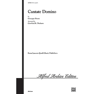 Cantate Domino /Ssaa