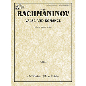 Valse And Romance For One Piano Six Hands By Sergei Rachmaninoff