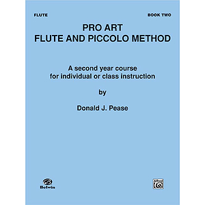 Pro Art Flute And Piccolo Method Book II