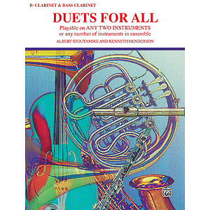 Duets For All (B-Flat Clarinets Bass Clarinet)
