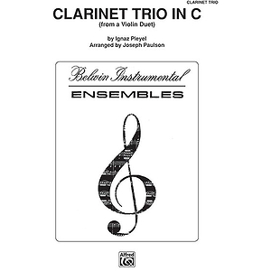 Clarinet Trio In C With Full Score