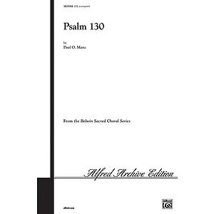 Psalm 130 Satb Manz