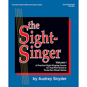 Sight-Singer Volume I For Two-Part Mixed/Three-Part Mixed Voices Teacher Edition With One Set Of Key Cards