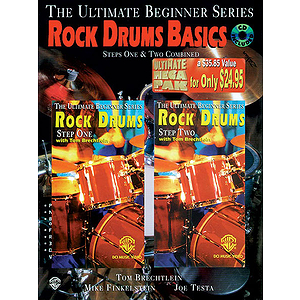 Rock Drum Basics Megapak Book CD And Two Videos Ultimate Beginner Series (VHS)