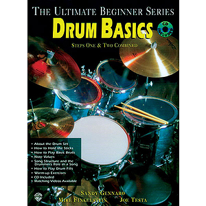 Drum Basics Steps One & Two Combined Ultimate Beginner Series CD Included