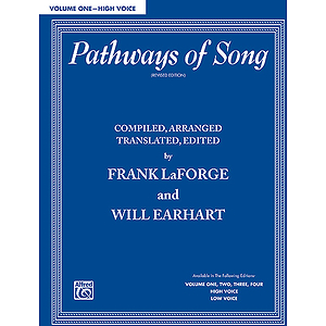 Pathways Of Song Volume I High Voice