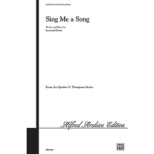 Sing Me A Song (Unison Or Two-Part)
