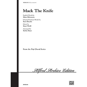 Mack The Knife Satb Arr Shaw